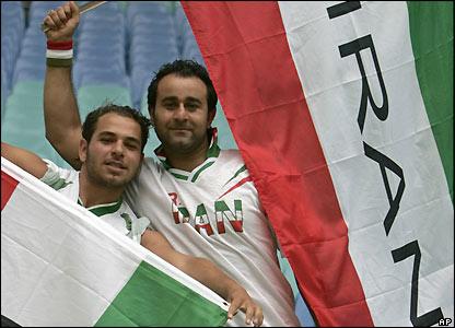 Iran fans in Leipzig