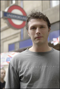 Adam Stacey outside Holborn Underground station