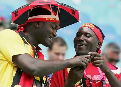 Angola supporters