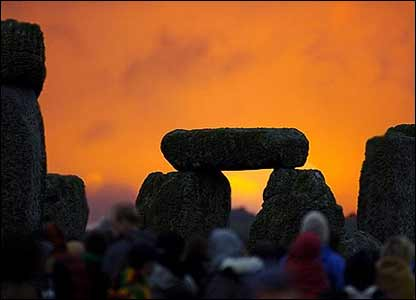 Red sky at Stonehenge - Gary Bray