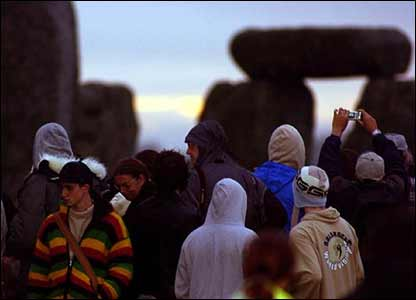 People at Stonehenge