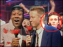 Paul Crossley on Top of the Pops in 1991