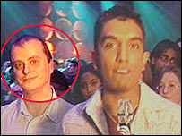 Paul Crossley on Top of the Pops in 2004