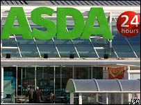 Front of Asda store