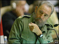 Fidel Castro at a literacy conference on 9 June