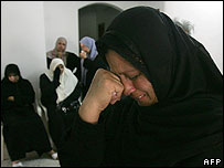 Grieving Palestinians in Gaza