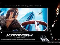 Afiche de película Krrish.