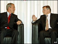 US President George W Bush and Austrian Chancellor Wolfgang Schuessel
