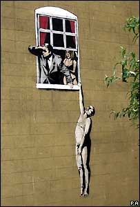 'Guerilla artist' Banksy's latest grafitti