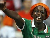 Ivory Coast supporter