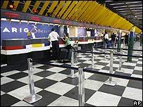 Check-in area at Sao Paulo airport, Brazil