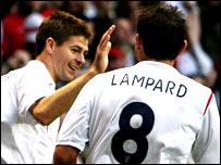 England duo Steven Gerrard and Frank Lampard