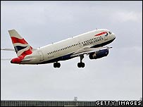 BA aircraft taking off