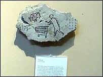 Одна из работ Банкси в экспозиции Британского музея