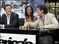 Piers Morgan, Brandy and David Hasselhoff