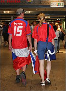 Czech fans prepare for Italy