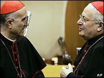 Cardinal Bertone and Cardinal Sodano (file photo from 2005)