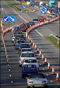 Traffic being diverted (Image: PA)