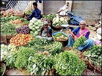 Vegetable market in Bangalore