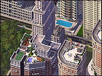 Screen shot of Sim City game