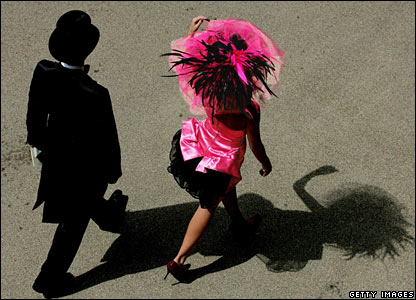 Race-goers at Ascot
