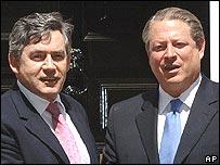 Gordon Brown and Al Gore