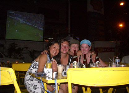 World Cup fans pictured in Bangkok
