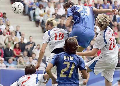Marco Materazzi scores