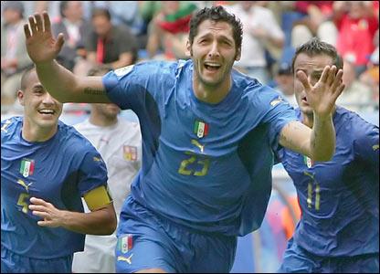 Materazzi celebrates
