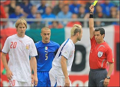 Jan Polak is sent off