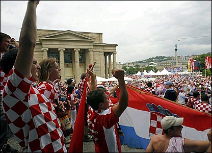 Croatia fans in Stuttgart