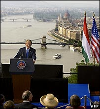 Mr Bush in Budapest