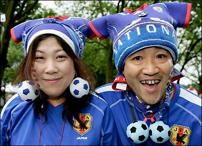 Japan fans arrive in Dortmund