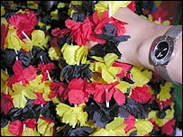 Garlands in Germany colours