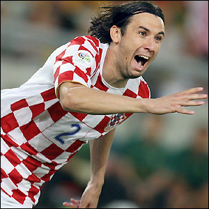 Darijo Srna celebrates his goal