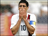 USA captain Claudio Reyna