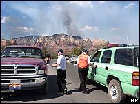 Roadblock near Sedona, Colorado