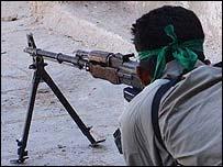 Shia militia fighter in Iraq (file pic)