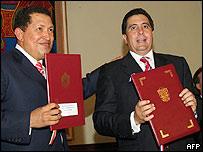 Hugo Chávez y Martín Torrijos