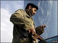 Saudi policeman in Riyadh