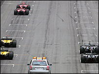 Just six cars took part in the 2005 US Grand Prix