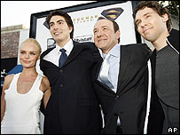 Kate Bosworth, Brandon Routh, Kevin Spacey and Bryan Singer