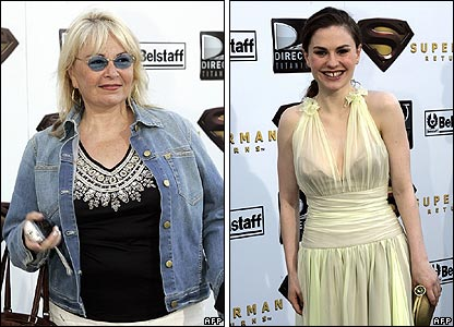 Roseanne Barr and Anna Paquin