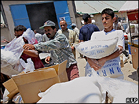 UN aid distributions in Gaza