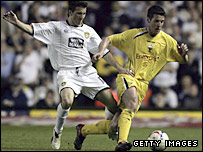 Leeds' Liam Miller challenges Preston's Brian O'Neil in last season's Championship play-offs