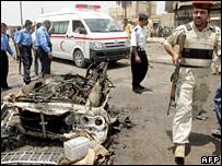 Scene of Basra blast