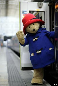 Paddington Bear at Paddington Station on Friday 23 June 2006