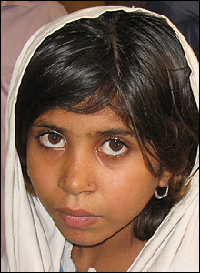 Pupil at Dera Bugti school