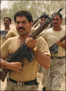 Paramilitary training in Dera Bugti
