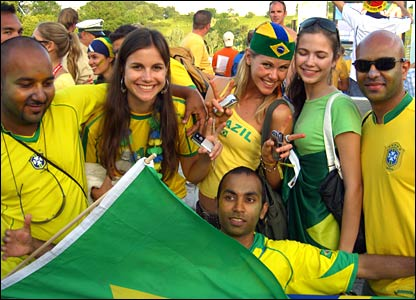 Brazilians enjoy their teams victory